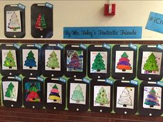 Karen Foley's students created wonderful X-mas trees to go with their paw prints.