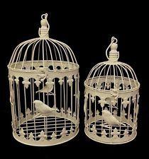 New French Provincial 2 X BIRD CAGES Home Decor Decorative Wedding BIRDS