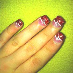 Christmas nails ((: