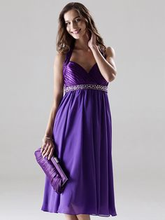 Knee-length+Chiffon+/+Charmeuse+Bridesmaid+Dress+-+Regency+Plus+Sizes+/+Petite+A-line+/+Princess+Halter+/+Sweetheart+-+AUD+$100.09