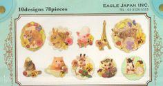Kawaii japan Sticker Flake Assort: Petit Voyage Series  by mautio