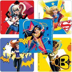 dc super hero girls   DC Super Hero Girls Value Stickers (5) at Birthday Direct