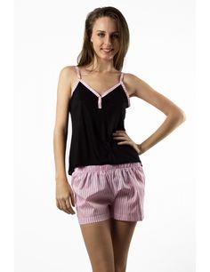 Zega Store - Pijamale Mushroom,culoarea roz cu negru - Femei, Pijamale Rompers, Dresses, Fashion, Gowns, Moda, Jumpsuits, Fashion Styles, Romper Clothing, Romper Suit