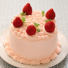 Strawberry cake! It's adorable.