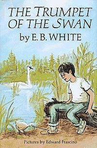 EB White:  Great books involving the observation and characterization of animals.   Trumpet of the Swan Cover.jpeg  Charlotte's Web is another good choice.