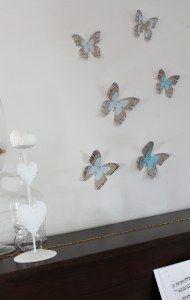jolis papillon en papier musique
