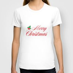 Merry Christmas T-shirt, Maureen Bates Photography, American Apparel Fine Jersey T-Shirt, Holiday Shirt