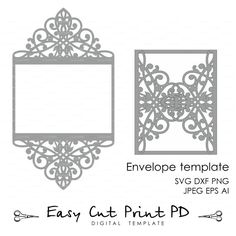 Product Laser Cut Wedding Invitations Envelope Pocket Template - Wedding invitation envelope template free