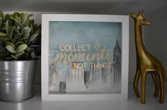 Moments Not Things Shadow Box: New York City | Memory Display Case | Ticket Stub Collection Frame | Souvenir Storage | Engagement NYC by DextersGifts on Etsy https://www.etsy.com/listing/495417768/moments-not-things-shadow-box-new-york