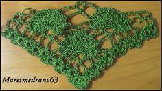 Chal verde a crochet                                                                                                                                                                                 Más
