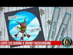 Marker Geek Monday: Adding a Snowy Background using Copic Markers | stamping bella