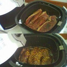 Picanha com alho    Cortar a picanha em bifes com + ou - um dedo de largura. Temperar com sal grosso e algumas gotas de molho inglês. Pro...
