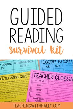 Guided reading is one of the most powerful times of the day, and I wanted to make sure teachers had simple and effective tools at their fingertips to use! | guided reading survival kit, guided reading elementary, first grade guided reading, elementary guided reading, guided reading groups, guided reading first grade, guided reading activities, guided reading ideas, guided reading for first grade, guided reading organization