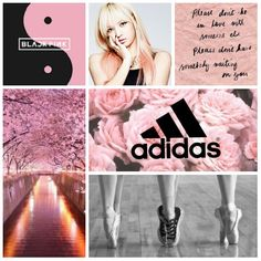 #blackpink #yg #adidas #pink #black #lisa #lalice #plitemoodboard