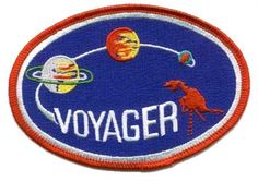 Voyager Mission Patch | NASA Patches Man Cave Ceiling Ideas, Nasa Store, Space Patch, Nasa Patch, Moon Orbit, Planetary System, Nasa Missions, Patch Design, Space Program