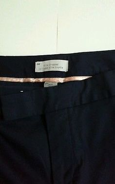 Brand-New-Gap-ladies-slim-cropped-navy-trousers-size-10