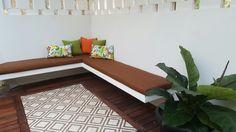 Simply brown backyard terrace. #tiles #richloomfabrics