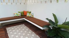 Simply brown backyard terrace. #tiles #richloomfabrics