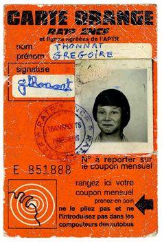 ancienne carte orange paris métro