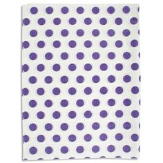 Go dotty! Spruce up a shopping bag, add pizzazz to gift boxes, or use as gift wrap. This attractive printed tissue from S. Walter completes any packaging look. #tissue #dots #grape