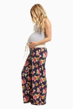 Navy-Floral-Drawstring-Pajama-Pants