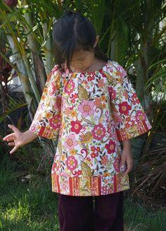 Girls Boutique Peasant Dress Floral Spice