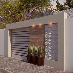 Fence Wall Design, Front Wall Design, Exterior Wall Design, House Gate Design, Home Entrance Decor, Entrance Design, House Entrance, Compound Wall Design, Facade House