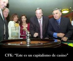 """En una conferencia junto al Nobel de Economía, Joseph Stiglitz, la Presidenta dijo: """"Este no es un verdadero capitalismo. Es un capitalismo de casino"""""""