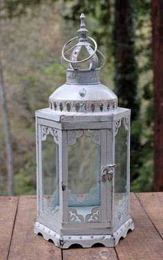 Hexagonal Lantern Antique White 17.5in- Save on Crafts. com. Rivendell lantern? :)