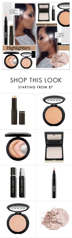 """""""Spring Beauty: Highlighters"""" by deeyanago ❤ liked on Polyvore featuring beauty, New Look, LORAC, MAC Cosmetics and Bobbi Brown Cosmetics"""
