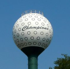 champions water tower by Discover Spring Texas, via Flickr