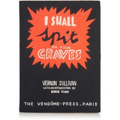 Olympia Le-Tan I Shall Spit Graves Book Clutch (31,350 MXN) ❤ liked on Polyvore featuring bags, handbags, clutches and black