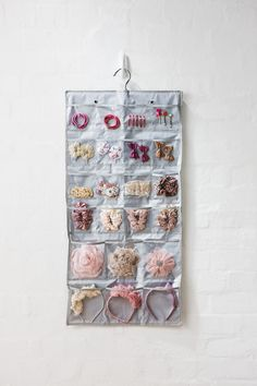 Sort the kids hair accessories out with the 22 pocket organiser ($21.95). Available at Howards Storage World