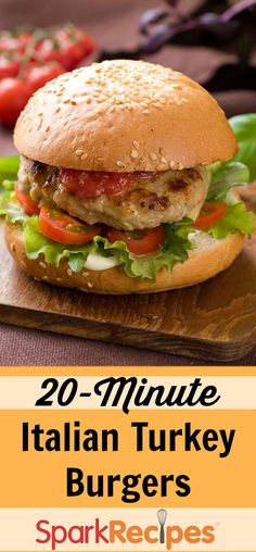 While this burger tastes like a meatball sub, it's far lighter and healthier. With only four ingredients, this 20-minute meal is sure to be a family favorite.
