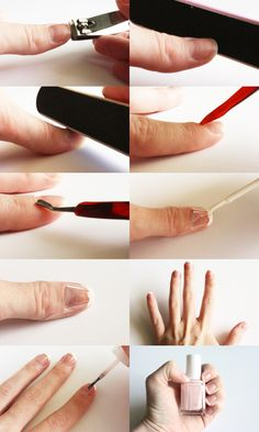 Use tape do a french manicure on your nails.