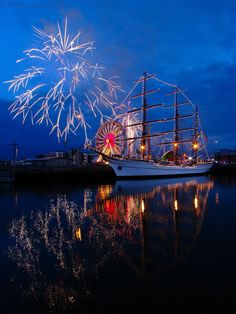 Fireworks in Queens Island, Belfast, Northern Ireland. #12DaysofChristmas | #LittlePassports