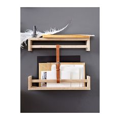 BEKVÄM Spice rack IKEA Saves space on the countertop Solid wood can be sanded and surface treated as needed.