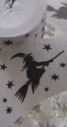 Old fashioned Halloween crepe paper streamers from Germany
