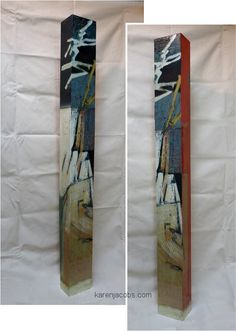 pylons - KAREN JACOBS contemporary and abstract paintings Buy Now #buyart #cuadrosmodernos