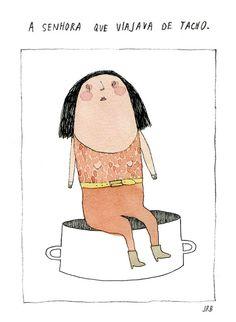 The Pan Traveller // A5 print // illustration by Joana Rosa Bragança on Etsy