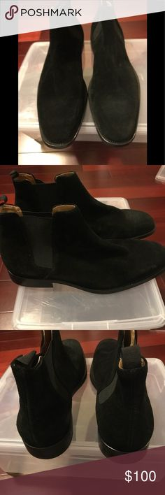 Men's Aldo Shoes Men's Aldo Shoes Size 9 Faux black suede. Never worn but there are some minor imperfections (please see pictures). Any questions just ask! 🙂 Aldo Shoes Boots