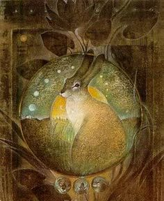 Hare and Moon - by Susan Seddon Boulet.