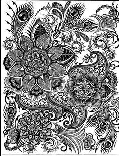 Peacock Drawing by mafidia.deviantart.com on @deviantART
