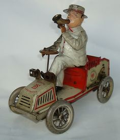 """1907 - 1925 Lehmann """"TUT TUT"""" tin toy"""