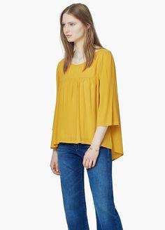 Flowy blouse -  Women | MANGO