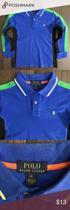 8yrs Boys Ralph Lauren Polo Shirt *Gently used, great condition *Clean, stain free  *Smoke and pet free *No holds/trades Polo by Ralph Lauren Shirts & Tops Polos