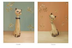 {Claude + Claire} by Janet Hill - love this pair!