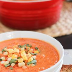 Roasted Tomato and Sweet Corn Soup - Celebrating Sweets