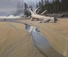 Keith Hiscock - West Coast Shoreline - acrylic on canvas - 48 x 48