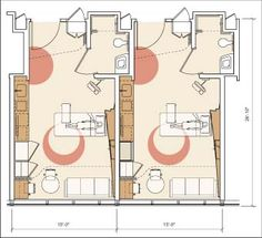 Patient room layout